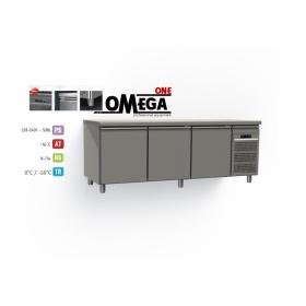 Χαμηλού Ύψους Ψυγείο Πάγκος Κατάψυξη 3 Πόρτες διαστ. 1750x700x640 mm GN1/1