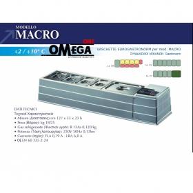 Επιτραπέζιο Ψυγείο Σαλατών & Πίτσας διαστ. 1270x330x230 mm mod. MACRO