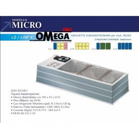 Επιτραπέζιο Ψυγείο Σαλατών & Πίτσας διαστ. 1020x410x220 mm mod. MICRO