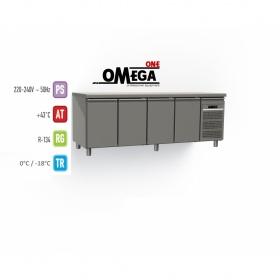 Ψυγείο Πάγκος Κατάψυξη με 4 Πόρτες διαστ. 2200x600x865 mm GN 1/2 & 1/3
