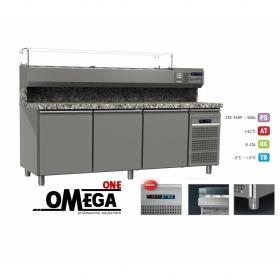 Ψυγείο Πίτσας με Γρανίτη διαστ. 1750x800x865/1440 mm GN1/1