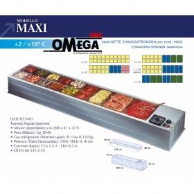 Επιτραπέζιο Ψυγείο Σαλατών & Πίτσας διαστ. 2080x410x220 mm mod. MAXI