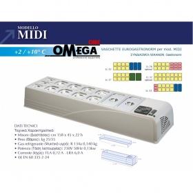 Επιτραπέζιο Ψυγείο Σαλατών & Πίτσας διαστ. 1580x450x230 mm mod. MIDI