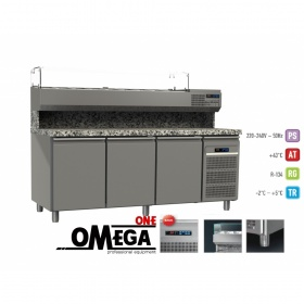 Ψυγείο Πίτσας με Γρανίτη διαστ. 2200x800x865/1440 mm