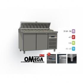 Ψυγείο Σαλατών Χωρίς Βιτρίνα με Γρανίτη διαστ. 1450x800x865/1020/1380 mm