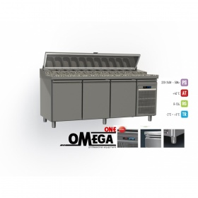Ψυγείο Σαλατών Χωρίς Βιτρίνα με Γρανίτη διαστ. 2045x800x865/1020/1380 mm MP8G-204-PPP