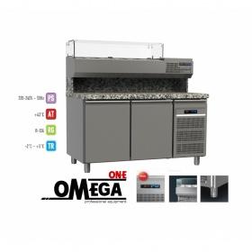 Ψυγείο Πίτσας με Γρανίτη διαστ. 1450x800x865/1440 mm