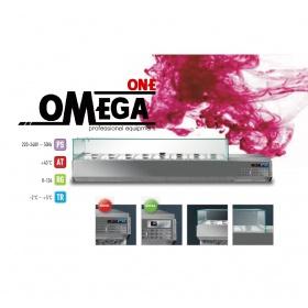 Επιτραπέζιο Ψυγείο Σαλατών & Πίτσας 6 GN 1/3 διαστ. 1450x389x420 mm -Omega One