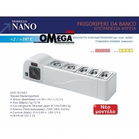 Επιτραπέζιο Ψυγείο Σαλατών & Πίτσας διαστ. 990x245x235 mm mod. NANO