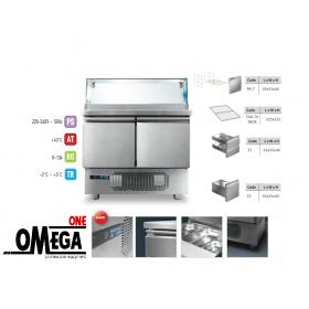 Ψυγείο Σαλατών Βιτρίνα με Γρανίτη 2 Πόρτες διαστ. 915x700x1170 mm