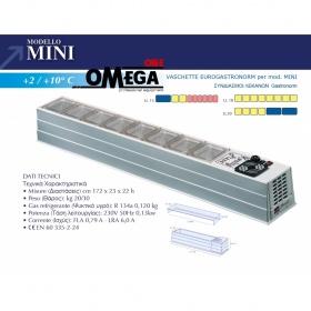 Επιτραπέζιο Ψυγείο Σαλατών & Πίτσας διαστ. 1720x230x220 mm mod. MINI