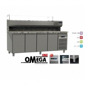 Ψυγείο Πίτσας με Γρανίτη 4 Πόρτες  2200x800x865/1440 mm GN 1/1