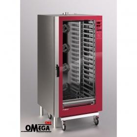 Αερίου Ζαχαροπλαστικής και Αρτοποιϊας Κυκλοθερμικός Direct Steam Φούρνος 16 Λαμαρινών 400x600 mm