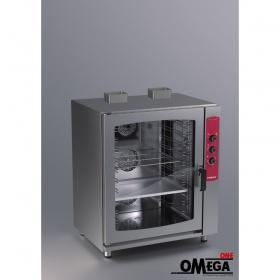 Μαγειρικής και Ζαχαροπλαστικής Αερόθερμος με Υγραντήρα Αερίου Φούρνος 10 GN 1/1
