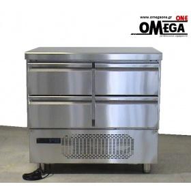 Ψυγείο Πάγκος Συντήρηση με 4 Συρτάρια GN 1/1 διαστ. 915x700x865 mm Σειρά 70
