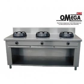 Wok Αερίου 3 Καυστήρες Κουζίνα Επιδαπέδια