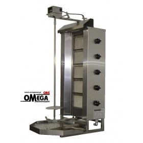 Γύρος Αερίου με 5 Διακόπτες 5 Καυστήρες έως 80 kg Κρέας KLG 222