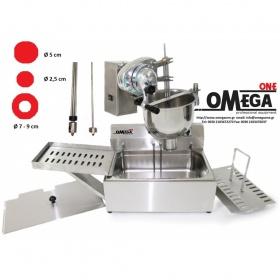 Ηλεκτρική & Χειροκίνητη Μηχανή Λουκουμά (δοχείο ανοξείδωτο) 7 Λίτρων με Ηλεκτρική Φριτέζα 14 Λίτρων / Εισαγωγής Omega One