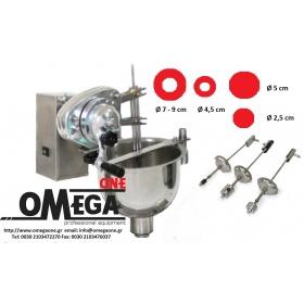 Λουκουμαδομηχανή με Ηλεκτρική και Χειροκίνητη Χρήση 7 Λίτρων Ανοξείδωτος Κάδος