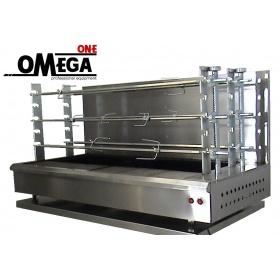 Ψησταριά Καρβούνου Επιτραπέζια με 6 Ανοξείδωτες Σούβλες & Σχάρες Omega One