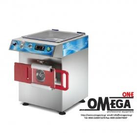 Ψυχόμενη Κρεατομηχανή παραγωγής 300 Kg/h με Ημι-αυτόματο Εξάρτημα για Χάμπουργκερ Omega Group C/E R22H