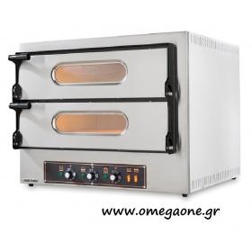 Ηλεκτρικός Φούρνος Πίτσας Διπλός ( 2 Πίτσες x Ø 30 cm)