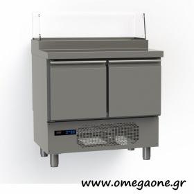Ψυγείο Σαλατών Βιτρίνα 2 Πόρτες διαστ. 915x700x1170 mm