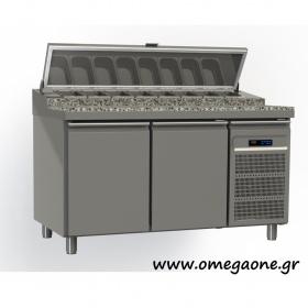 Ψυγείο Σαλατών με Γρανίτη Χωρίς Βιτρίνα διαστ. 1750x800x865/1020/1380 mm GN 1/1 -Omega One