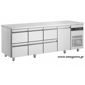 Refrigerated Counters with 6 Drawers & 1 Door dim. 2240x700x870 mm