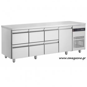 Ψυγείο Πάγκος με 6 Συρτάρια και 1 Πόρτα διαστ. 2240x700x870 mm