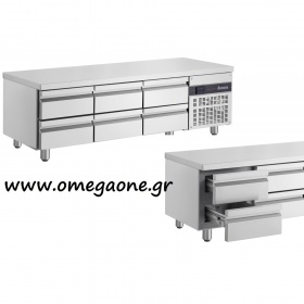 Refrigerated Counters with 6 Drawers dim. 1790x700x620 mm