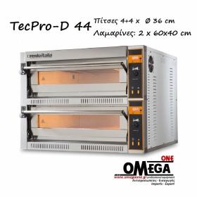 Ηλεκτρικός Φούρνος Πίτσας (4+4 Πίτσες x Ø 36 cm) TECPRO-D 44