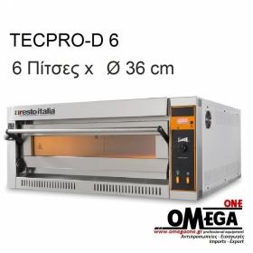 Ηλεκτρικός Φούρνος Πίτσας (6 Πίτσες x Ø 36 cm) TECPRO-D 6