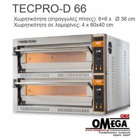 Ηλεκτρικός Φούρνος Πίτσας (6+6 Πίτσες x Ø 36 cm) TECPRO-D 66