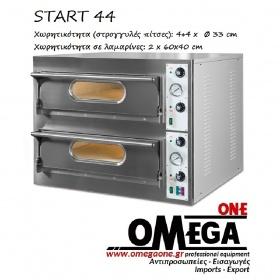 Ηλεκτρικός Φούρνος Πίτσας (4+4 Πίτσες x Ø 33 cm) Start 44