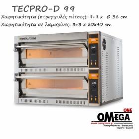 Ηλεκτρικός Φούρνος Πίτσας (9+9 Πίτσες x Ø 36 cm) TECPRO-D 99
