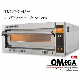 Ηλεκτρικός Φούρνος Πίτσας (4 Πίτσες x Ø 36 cm) TECPRO-D 4