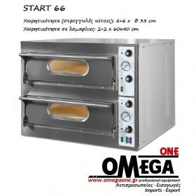 Ηλεκτρικός Φούρνος Πίτσας (6+6 Πίτσες x Ø 33 cm) Start 66