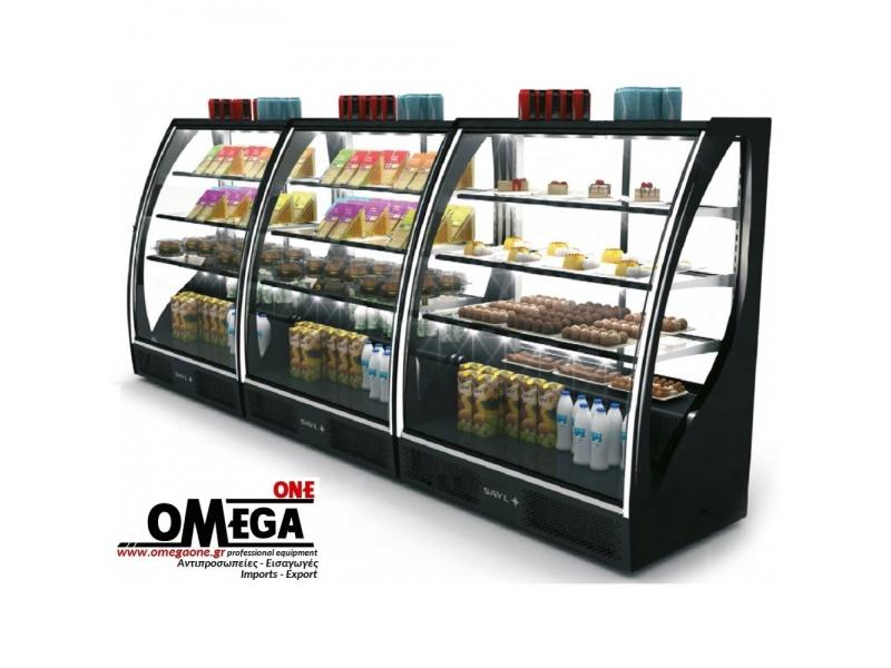 Kühlschrank Vitrine : Kühlvitrine für backwaren wandkühlregal qualitätsgerät kühltheke