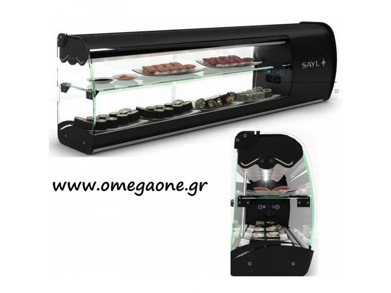 Kühlschrank Vitrine : Sayl aufsatzvitrine u ac sushi kühlschrank u ac sushi
