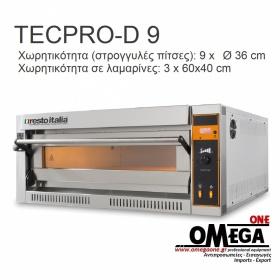 Ηλεκτρικός Φούρνος Πίτσας (9 Πίτσες x Ø 36 cm) TECPRO-D 9