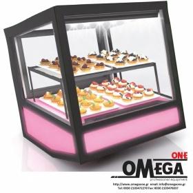 Επιτραπέζια Ψυχόμενη Βιτρίνα Γλυκών QBO