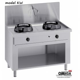 Κουζίνες Wok (γουόκ) Αερίου με Βρύση και Αποχέτευση -2 Καυστήρες Επιδαπέδιες