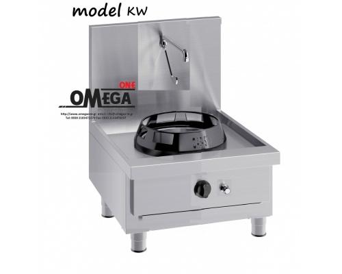 Wok (γουόκ) Αερίου με Βρύση και Αποχέτευση -1 Καυστήρας Επιτραπέζιες