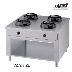Wok (γουόκ) Κουζίνες Αερίου Κέντρου -4 Καυστήρες