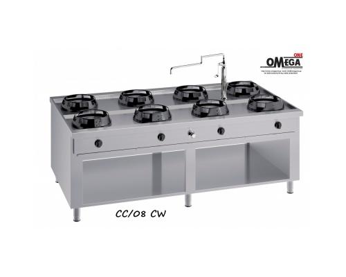 Wok (γουόκ) Κουζίνες Αερίου Κέντρου -8 Καυστήρες