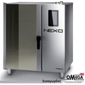 Ζαχαροπλαστικής -6 λαμαρίνες 600x400 mm Κυκλοθερμικός Αερίου Combi Direct Steam Πάνελ Αφής  NEXO NDG-606-HS
