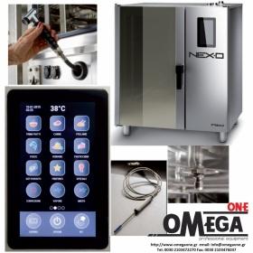 Φούρνος Μαγειρικής -10 GN 1/1 Κυκλοθερμικός Ηλεκτρικός Combi Direct Steam Πάνελ Αφής Αυτόματη Πλύση  NEXO NDE-110-HS