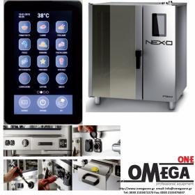 Φούρνος Μαγειρικής -7 GN 2/1 Κυκλοθερμικός Ηλεκτρικός Combi Direct Steam Πάνελ Αφής  Αυτόματη Πλύση, NEXO NDE-207-HS
