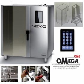 Φούρνος Μαγειρικής -20 GN 1/1 Κυκλοθερμικός Ηλεκτρικός Combi Direct Steam Πάνελ Αφής Αυτόματη Πλύση,NEXO NDE-120-HS